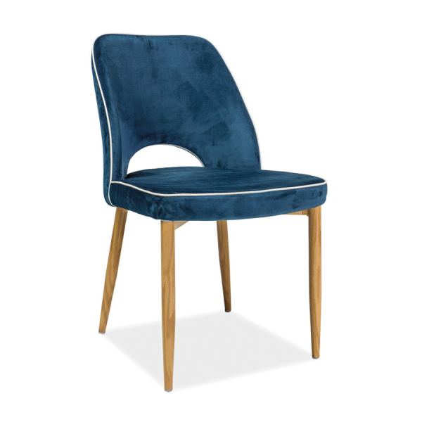 Stuhl verdi dunkelblau skandinavisch st hle esszimmer m bel online kaufen - Stuhl skandinavisch ...