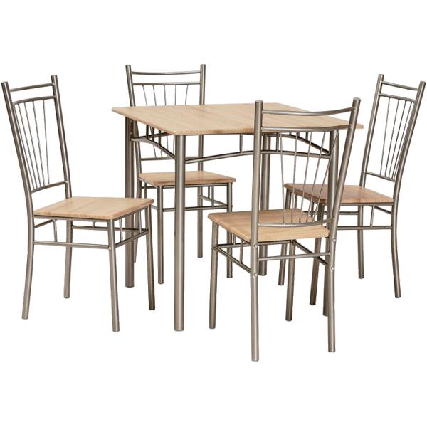 set fit tisch und 4 st hle esstische tische esszimmer m bel online kaufen. Black Bedroom Furniture Sets. Home Design Ideas